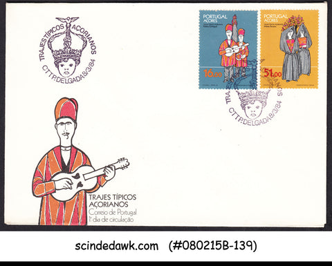 AZORES PORTUGAL - 1984 AZOREAN CULTURAL DRESS - 2V - FDC