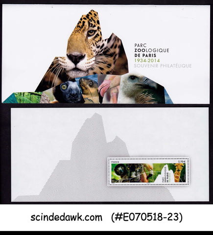 FRANCE - 2014 ZOOLOGICAL PARKS IN PARIS / ANIMALS - FOLDER (1-M/S MNH)