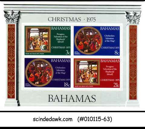 BAHAMAS - 1975 CHRISTMAS - MINIATURE SHEET MINT NH