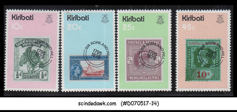 KIRIBATI - 1979 DEATH CENTENARY OF SIR ROWLAND HILL - 4V - MINT NH