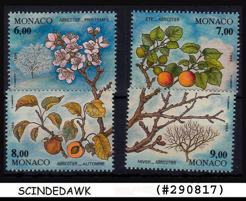 MONACO -1994 EUROPEAN STAMP SALON /FLOWER/ PLANTS 4V MINT NH, SG#2202