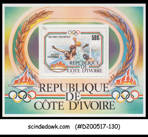 IVORY COAST - 1983 PRE OLYMPICS / OLYMPIC GAMES - Miniature sheet MINT NH