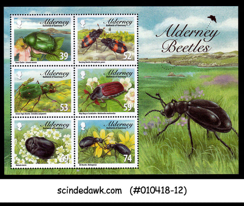 ALDERNEY - 2013 BEETLES / INSECTS - MINIATURE SHEET MNH