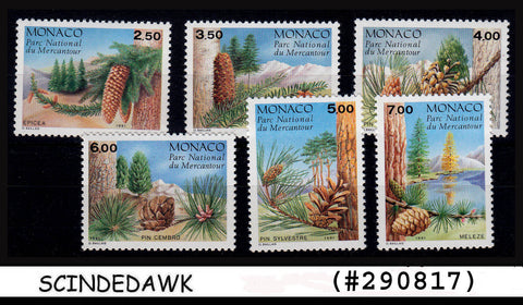 MONACO - 1991 Conifers from the Mercantour National Park - 6V MNH CV=15.60GBP