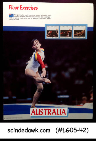 AUSTRALIA - 1988 OLYMPIC GAMES FLOOR EXERCISES PANEL MNH