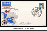 AUSTRALIA - 1969 50th ANNIV. OF AIRMAIL COVER WITH CANCL. SIGNED BY PILOT