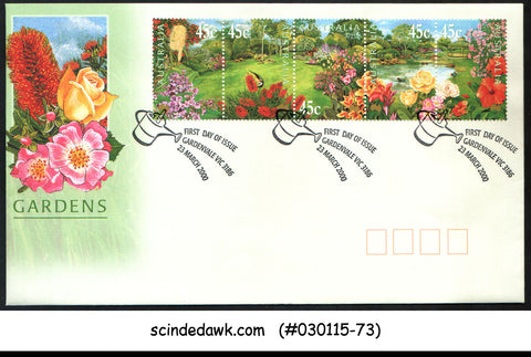 AUSTRALIA - 2000 GARDENS / FLOWERS / PLANTS / NATURE - 5V - FDC