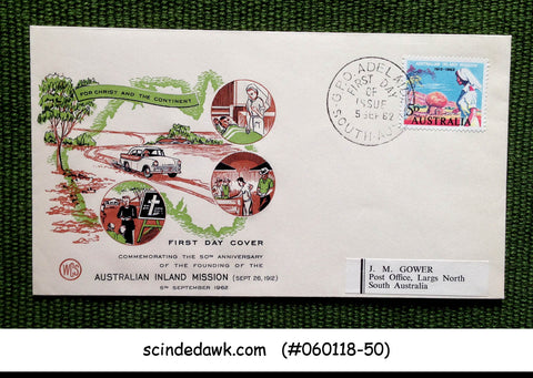 AUSTRALIA - 1962 50th ANNIVERSARY OF THE AUSTRALIAN INLAND MISSION FDC