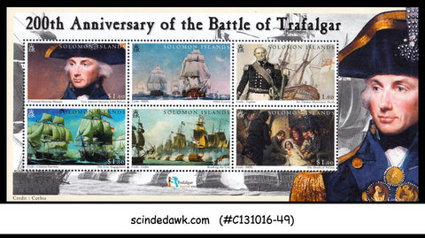 SOLOMON ISLANDS  2005 200th Anniversary of the Battle of TRAFALGER / WAR M/S MNH