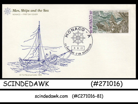 MONACO - 1977 CAREER OF THE NAVIGATOR / SHIP - FDC