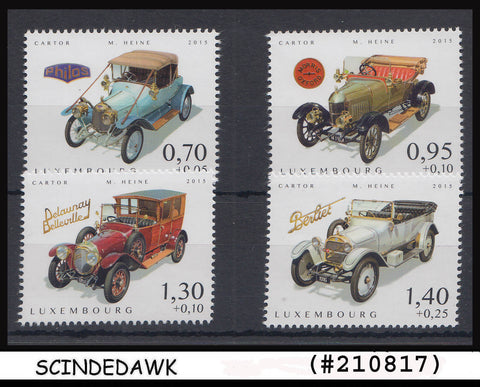 LUXEMBOURG - 2015 VINTAGE CARS - 4V - MINT NH