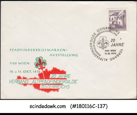 AUSTRIA - 1970 20yrs OF BOY SCOUT ASSOCIATION SPECIAL COVER WITH SPECIAL CANCL.
