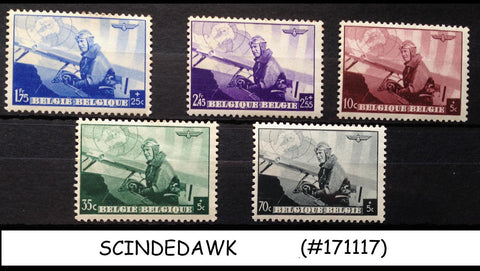 BELGIUM - 1938 EUROPEAN AIR MAIL CONFERENCE / AVAITION - 5V - MINT NH