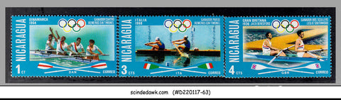 NICARAGUA - 1976 OLYMPIC GAMES / ROWING / SPORTS - 3V - MINT NH