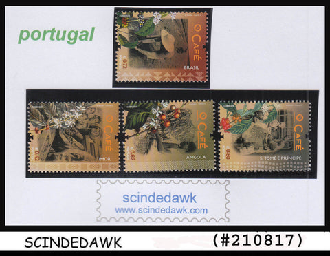 PORTUGAL - 2014 CAFE  COFFEE - 4V - MINT NH