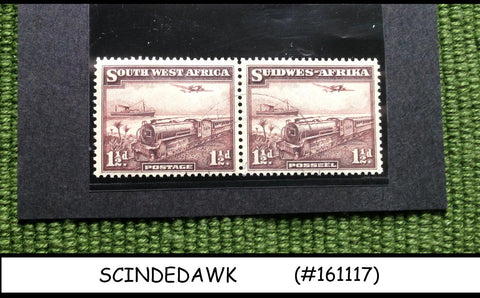 SOUTH WEST AFRICA - 1931-37 RAILWAY TRAINS SCOTT#110 - 2V PAIR - USED
