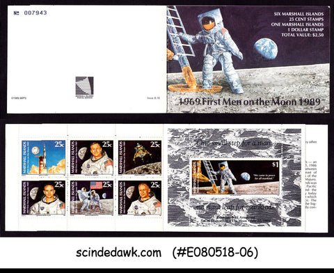 MARSHALL ISLANDS - 1989 FIRST MAN ON THE MOON / SPACE - STAMPBOOKLET