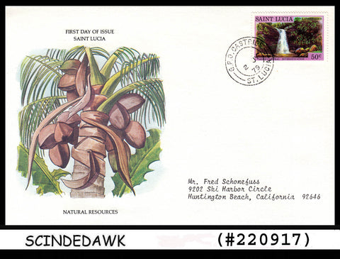ST LUCIA - 1979 NATURE RESOURCES  FDC