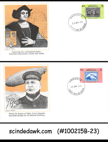 ANGUILLA - 1979- DIFFERENT HISTORICAL EVENTS - GREAT VALUE- SET OF  FDCs - 6nos