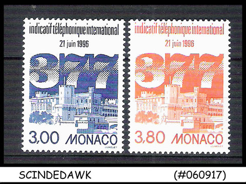 MONACO -1996 INTRODUCTION OF INTERNATIONAL DIALING CODE  377 2V MNH SG#2272 -73