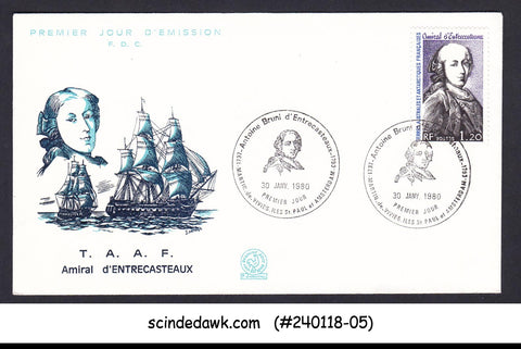 FRENCH TERRITORIES IN ANTARCTIC - 1980 Adm. Antoine d'Entrecasteaux - FDC