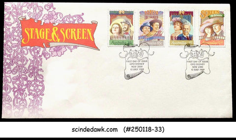 AUSTRALIA - 1989 STAGE AND CREEN - 4V - FDC