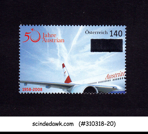 AUSTRIA - 2008 50 YEAR OF AUSTRIAN AIRLINES / AVIATION 1V MNH