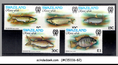 SWAZILAND - 1980 RIVER FISH / MARINE LIFE - 5V - MINT NH