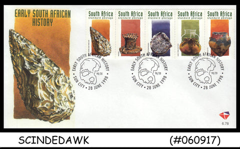 SOUTH AFRICA -1998 EARLY SOUTH AFRICAN HISTORY - 5V - FDC