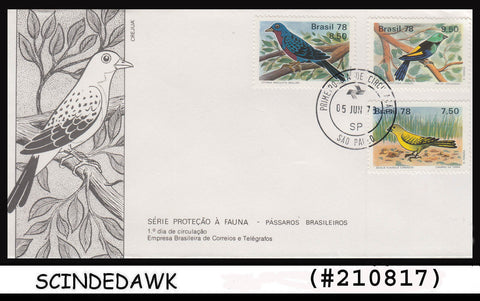 BRAZIL - 1978 BIRDS / BIRD - 3V - FDC