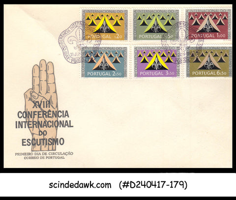 PORTUGAL - 1962 XVIIIth INTERNATIONAL CONFERENCE OF SCOUTING / SCOUT - 6V - FDC