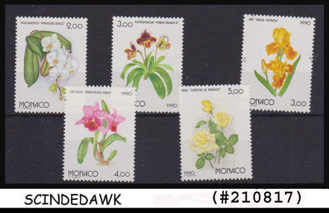 MONACO - 1990 International Horticultural Exp. EXPO '90 / FLOWERS 5V MINT NH