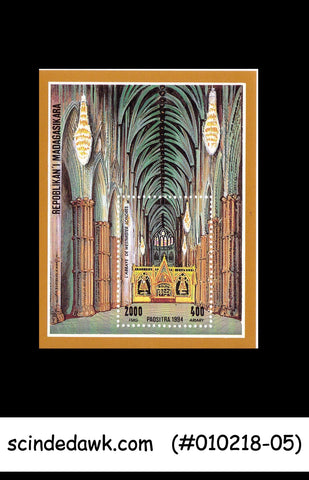 MADAGASCAR - 1994 Westminster Abbey Cathedrals CHURCH MIN/SHT MNH