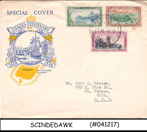 NEW ZEALAND - 1948 OTAGO CENTENARY SPECIAL COVER WITH CANCELLATION