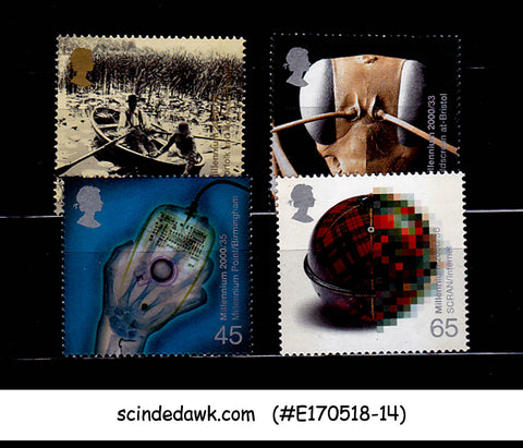 GREAT BRITAIN - 2000 MILLENNIUM 9th SERIES MIND & MATTER - 4V MNH