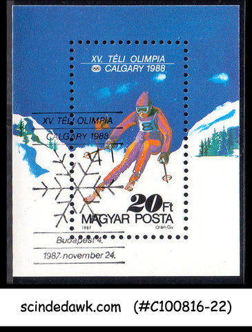 HUNGARY - 1988 WINTER OLYMPIC GAMES CALGARY '88 - Miniature sheet - MINT NH