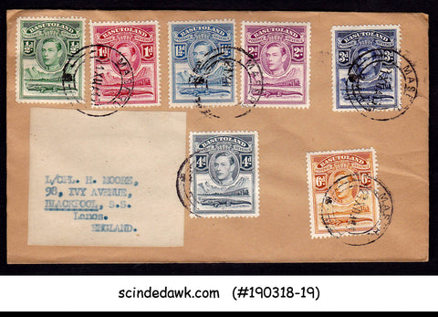 BASUTOLAND - 1943 ENVELOPE TO ENGLAND WITH KGVI STAMP