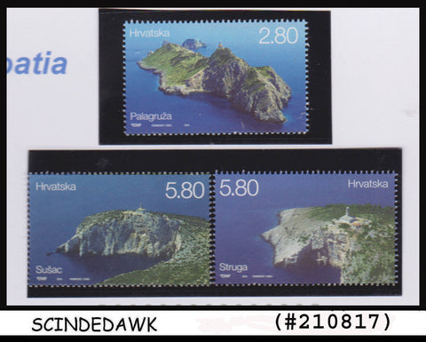 CROATIA - 2014 LIGHTHOUSE / ARCHITECTURE - 3V - MINT NH