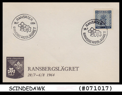 SWEDEN - 1964 RANSBERG CAMP / BOY SCOUTS SPECIAL COVER WITH SPECIAL CANCL.