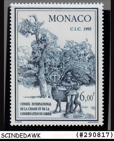 MONACO- 1995 Int'l COUNCIL FOR HUNTING AND GAME- 1V MNH SG#2220 CV=3.00 GBP