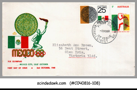 AUSTRALIA - 1968 OLYMPIC GAMES MEXICO - FDC
