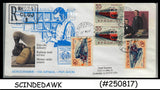 USA - 2006 REGISTERED AEROGRAMME with ROMANIA RAILWAY STAMPS
