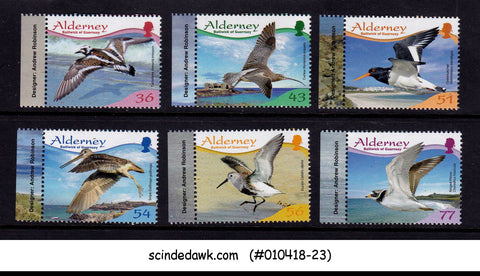 ALDERNEY - 2009 RESIDENT BIRDS / BIRD - 6V - MINT NH