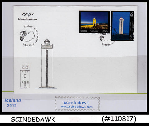 ICELAND - 2012 LIGHTHOUSE - 2V-  FDC