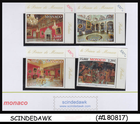 MONACO - 2001 Interiors of the Ducal Palace - 4V MINT NH