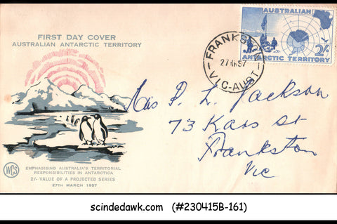 AUSTRALIAN ANTARCTIC TERRITORY - 1957 ANTARTIC EXPEDITIONS - FDC
