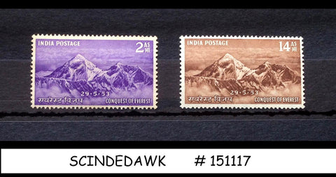 INDIA - 1953 CONQUEST OF MOUNT EVEREST SG#344-345 - 2V - MINT NH