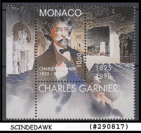 MONACO -1998  DEATH CENTENARY OF CHARLES GARNIER (ARCHITECT) 1V MINT NH