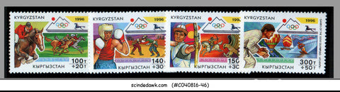 KYRGYSTAN - 1996 GAMES OF THE XXVI OLYMPIAD ATLANTA - 4V MNH
