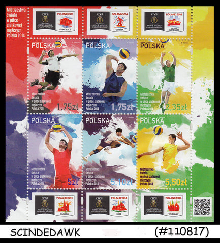 POLAND - 2014 MENS WORLD CHAMPIONSHIP of VOLLYBALL / SPORTS M/S MNH